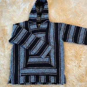Blue drug rug sweatshirt